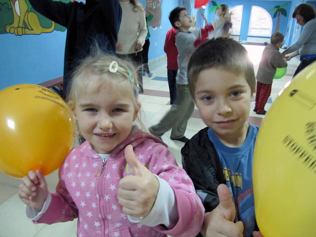 Kinderen uit het kinderhuis in Novovolynsk, Oekraïne.
