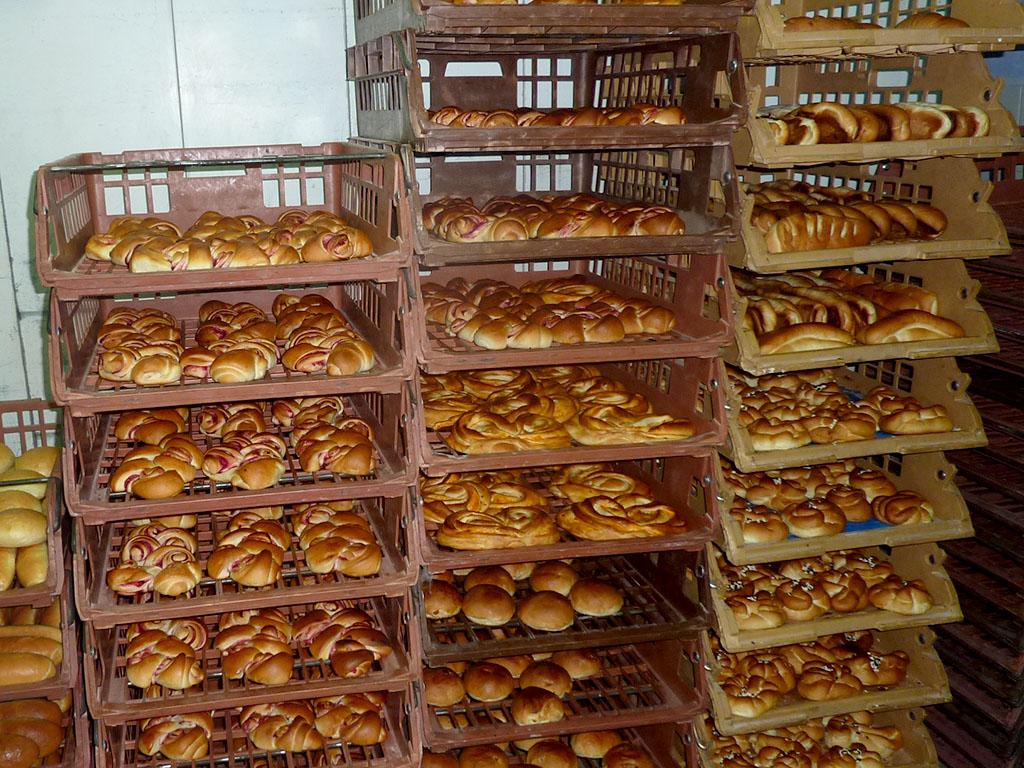 Brood uit de bakkerij in Novovolynsk, Oekraïne.