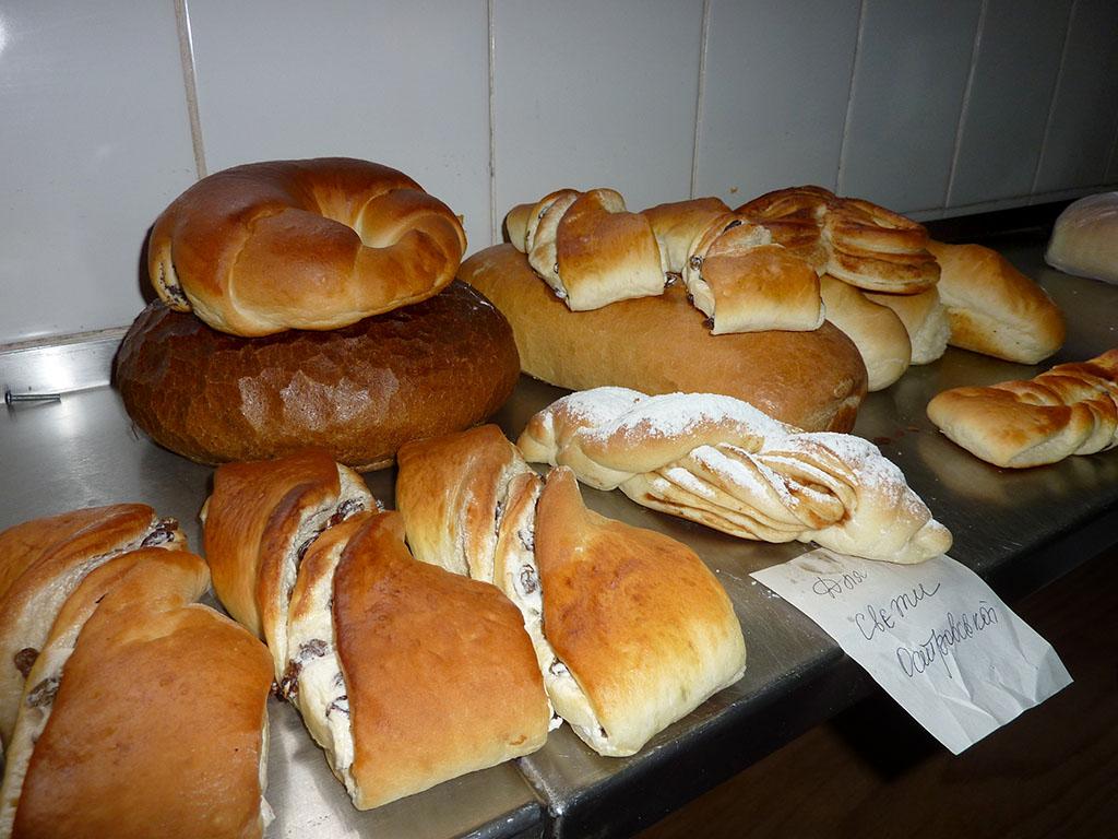 De bakkerij in Novovolynsk, Oekraïne.