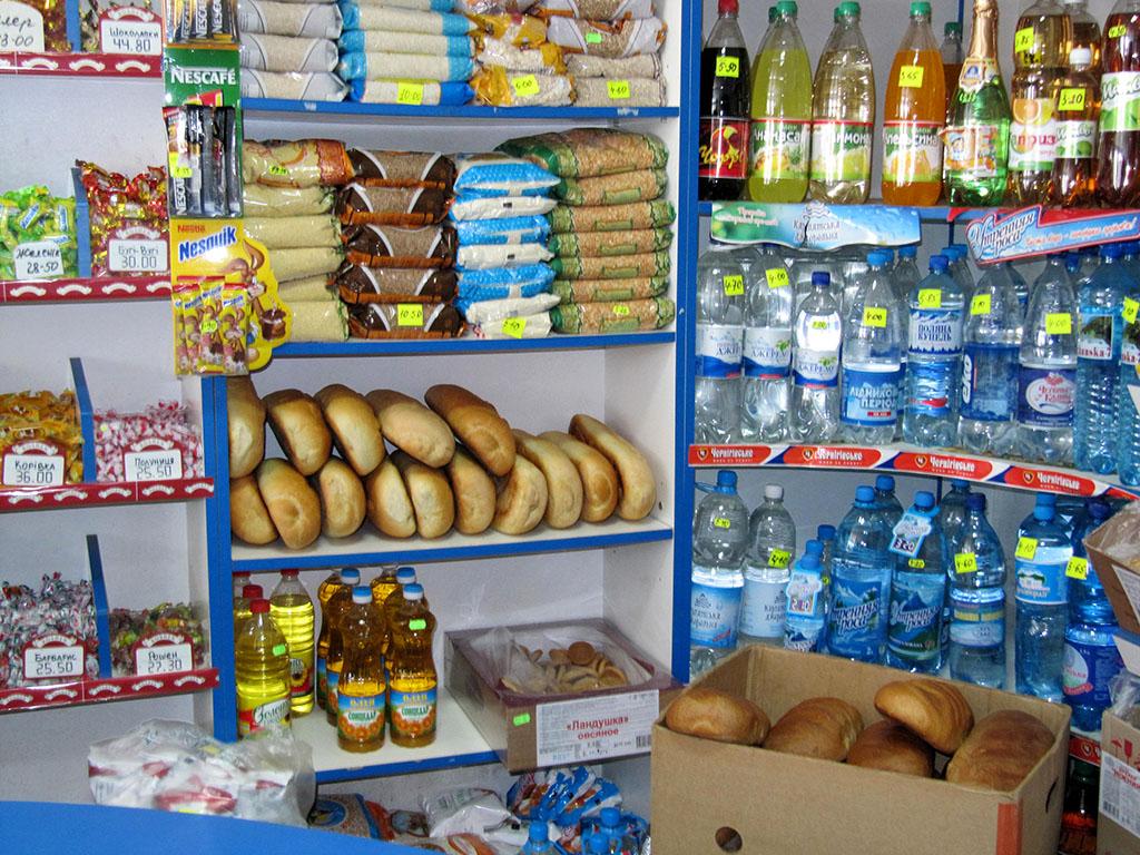 Brood uit de bakkerij in Novovolynsk in de supermarkt.