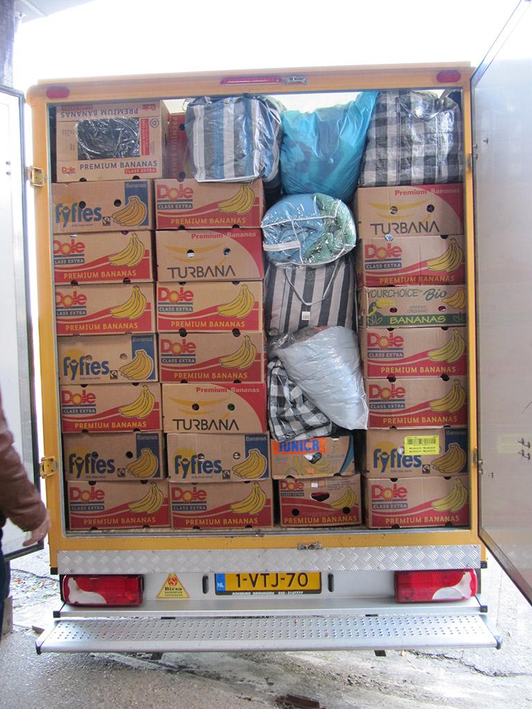 Hulptransport voor Oekraïne per vrachtwagen vanuit Nederland