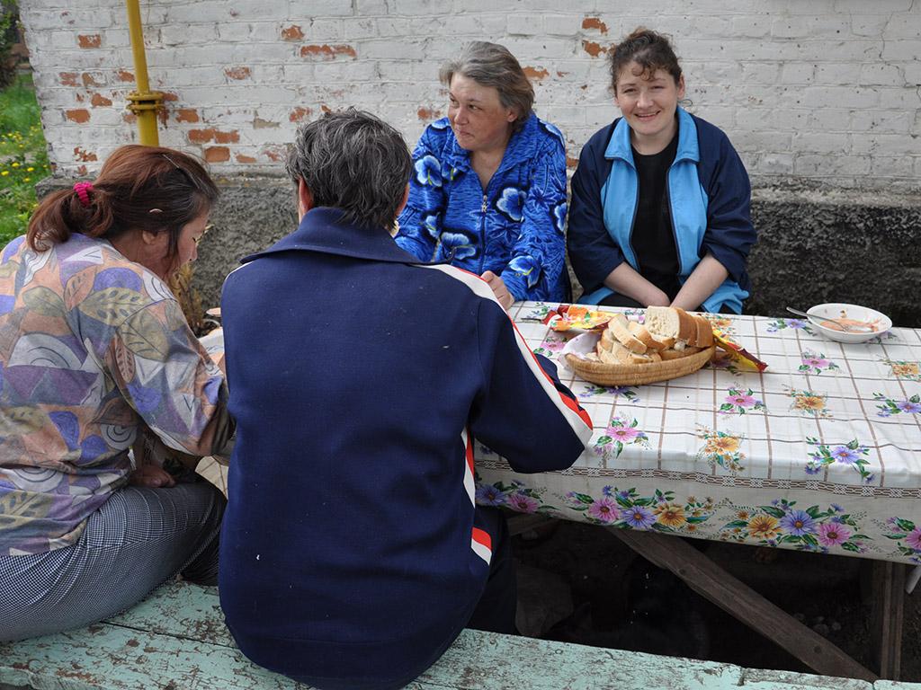 Opvang voor vrouwen, vrouwenhuis in Novovolynsk, Oekraïne.