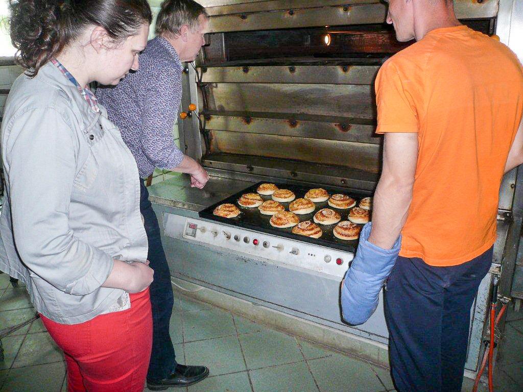 Werkbezoek aan de bakkerij