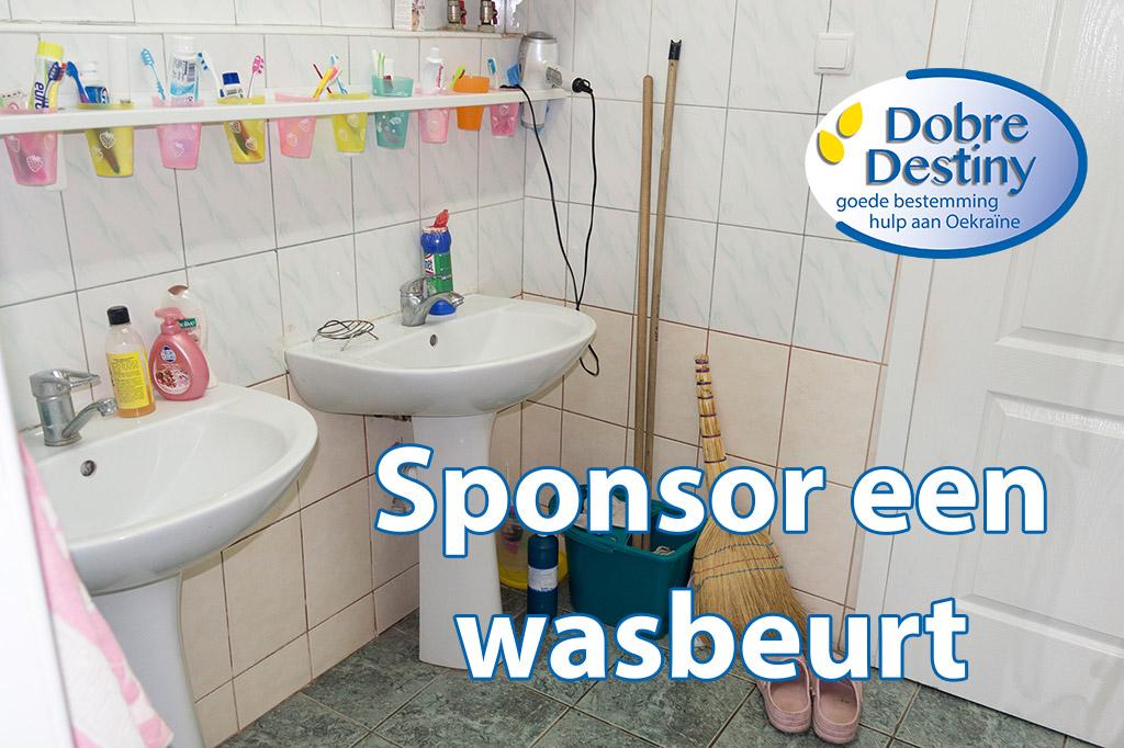 sponsor een wasbeurt voor het kinderhuis